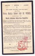 DP Petrus M. Van De Winkel ° Neeritter Leudal NL Limb. 1867 † Kinrooi BE 1933 X M. Hendrikx - Devotieprenten