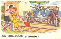 19 - Corrèze / 10008 - Merlines - Carte Illustrée Par Jean Chaperon - Other Municipalities