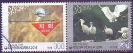 Used Korea, South 2016, Birds 2V [:] - Corée Du Sud