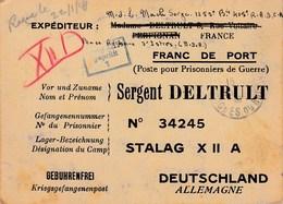 STALAG  X   II  A   --  DEUTSCHLAND   ---   Courrier De Prisonnier - Guerre 1939-45