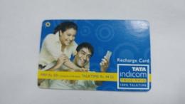 India-top Up-tata Indicom Card-(39)-(rs.50-talktime Rs.44.55)-(new Delhi)-(11/2008)-used Card+1 Card Prepiad Free - India