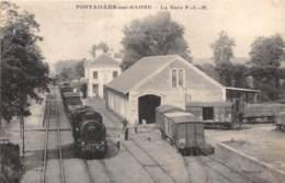 21 - Côte D' Or / 10043 - Pontailler Sur Saone - La Gare P.L.M - France