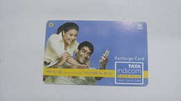 India-top Up-tata Indicom Card-(39b)-(rs.100-talktime Rs.89.10)-(new Delhi)-(90day After)-used Card+1 Card Prepiad Free - India