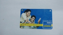 India-top Up-tata Indicom Card-(39c)-(rs.100-talktime Rs.89.10)-(new Delhi)-(90day After)-used Card+1 Card Prepiad Free - India