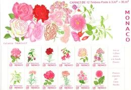MONACO Carnet 12 ** MNH Flore Peinture De C. Thurillet Fleurs Rose Oeillet Fuschia (CV 19,50 €) - Carnet