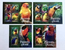 Antigua&Barbuda 2014** Mi.5169-80. Parrots MNH [16;57-58] - Parrots