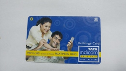 India-top Up-tata Indicom Card-(39d)-(rs.200-talktime Rs.178.19)-(new Delhi)-(10/2008)-used Card+1 Card Prepiad Free - India
