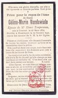 DP Céline M. VandeWiele ° Kortrijk 1862 † Estaimpuis Steenput 1931 X H. Timperman - Devotieprenten