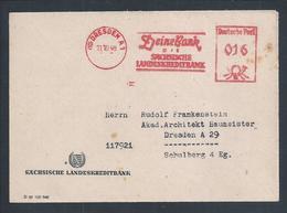 Letter From The Sachsische Landeskreditbank, His Bank Of Dresden In 1948.Finance.Brief Der Sachsischen Landeskreditbank. - Banque & Assurance