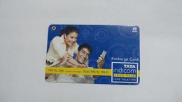 India-top Up-tata Indicom Card-(39e)-(rs.330-talktime Rs.294.01)-(new Delhi)-(11/2008)-used Card+1 Card Prepiad Free - India