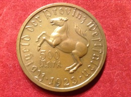 Münze Provinz Westfalen 500 Mark 1923 Droste Hülshoff Jaeger 19 - [ 3] 1918-1933: Weimarer Republik