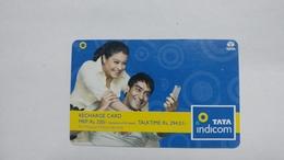 India-top Up-tata Indicom Card-(39f)-(rs.330-talktime Rs.294.01)-(new Delhi)-(5/2009)-used Card+1 Card Prepiad Free - India