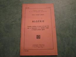 Journal Officiel - ALGERIE - Accords Du 28 Août 1962  (72 Pages) - N°62-158 - Politique
