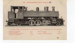 Les Locomotives (Nord Espagne) Locomotive Tender Des Chemins De Fer Du Nord De L'Espagne - Treinen