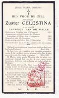 DP Emerence Van De Walle - Zr. Celestina ° Ertvelde Evergem 1874 † Klooster Josephinen Gent 1933 - Devotieprenten