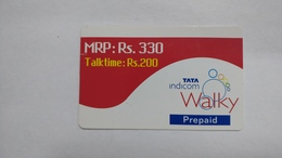 India-top Up-tata Indicom Card-(39g)-(rs.330-talktime Rs.200)-(new Delhi)-(1/2008)-used Card+1 Card Prepiad Free - India