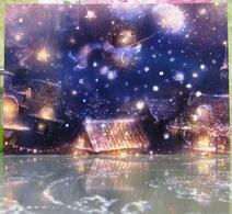 Hedgehog On A Dandelion Winter Night In Toy Town Fine Art Modern Russian Postcard By Polina Yakovleva - Postcards