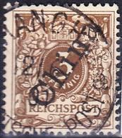 "2018-0082 Deutsche Post In China 1898 Mi 1II Used ""Shanghai"" O - Bureau: Chine"