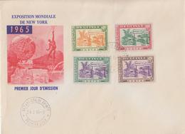 Enveloppe FDC  1er  Jour   GUINEE   Exposition  Mondiale  De   NEW  YORK   1965 - Guinée (1958-...)