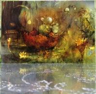 Two Mice Autumn Warm Mood Fine Art Modern Russian Postcard By Polina Yakovleva - Postcards