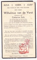 DP Wilhelmus Van De Vorst ° Weert NL Limb. 1885 † Kessenich Kinrooi BE 1939 X Cath. Stals - Devotieprenten