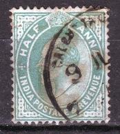 India 1906 King Edward VII Half Anna Fine Used Stamp. - India (...-1947)