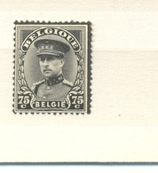 384 Koning Albert I Rouwzegel Postfris** 1934 - Neufs