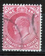 India 1906 King Edward VII One Anna Fine Used Stamp. - India (...-1947)