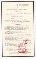 DP Adèle M. Vande Voorde ° Moorslede 1867 † Moorsele Wevelgem 1936 X Edm. De Geest - Devotieprenten