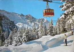 ENGELBERG Luftseilbahn Skifahrer - OW Obwald