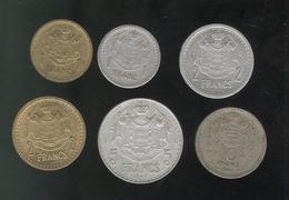 Lot 6 Monnaies Monaco Louis II - Monaco