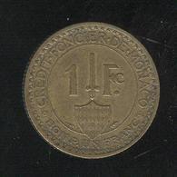 1 Franc Monaco 1926 - 1922-1949 Louis II.