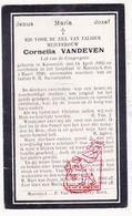 DP Cornelia Vandeven ° Kessenich Kinrooi 1895 † Maaseik 1926 - Devotieprenten