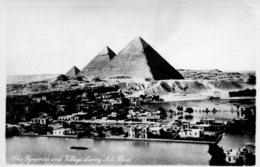 EGYPT - RPPC - The Pyramids And Villa During The Nile Flood - Pyramids