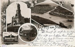 SWITZERLAND - Gruss Vom Nieverwald- Vignette - VG Wiesbaden PM - Undivided Rear1892 - VS Valais