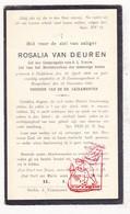 DP Rosalia Van Deuren ° Emblem Ranst 1864 † Borgerhout 1925 - Devotieprenten