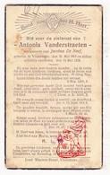 DP Antonia VanderStraeten ° Vlezenbeek Sint-Pieters-Leeuw 1863 † 1934 X J. De Neef - Devotieprenten