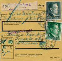 TSCHENSTOCHAU / GENERALGOUVERNEMENT - 1943 , Paketkarte Nach Tomaszow - Besetzungen 1938-45