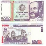 Perú 5.000 Intis 28-6-1988 Pick 137 UNC - Pérou