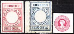 CHILI 1900/6  TIMBRE CIERRO OFICIAL   MH - Chili