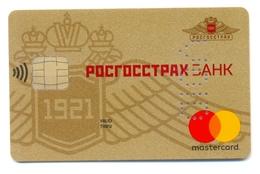 Russia VOID Mastercard Rosgosstrakh Bank Gold Blason - Geldkarten (Ablauf Min. 10 Jahre)