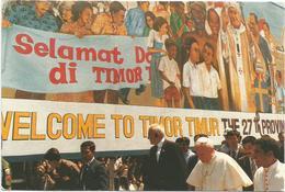 V3388 Visita Del Papa Giovanni Paolo II A Timor Allora Indonesia - Ioannes Paulus Pope / Non Viaggiata - Indonesia