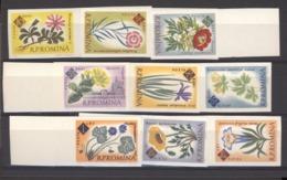 Roumanie  :  Yv  1818a-26a  **      Fleur - Flower  ,   Non Dentelé - 1948-.... Républiques
