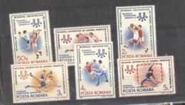 Roumanie  :  Yv  3737-42  **    Sports - 1948-.... Républiques