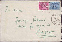 TRIESTE - ISTRIA - VUJNA - OPATIJA D   2 + 6 Lirs - 23. 4. 1947. - 7. Trieste