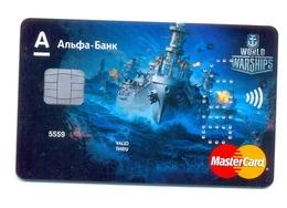 Russia VOID MasterCard AlfaBank World Of Warships Game - Carte Di Credito (scadenza Min. 10 Anni)