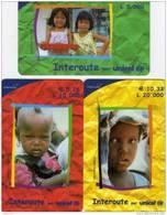 *ITALIA: INTEROUTE - UNICEF* - Serie Completa NUOVA (MINT) - [2] Tarjetas Móviles, Prepagadas & Recargos