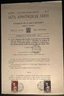ACTA APOSTOLICAE - 1963 N°2 - Vatican