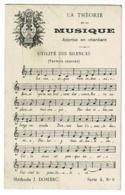 """Partition De Musique """"La Théorie De La Musique, Apprise En Chantant"""" Utilité Des Silences - Méthode J. Domerc - 1911 - Non Classés"""