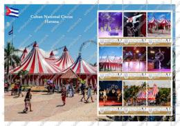 Ukraine. Cuban National Circus (Cuba). Personalized. MNH - Cirque